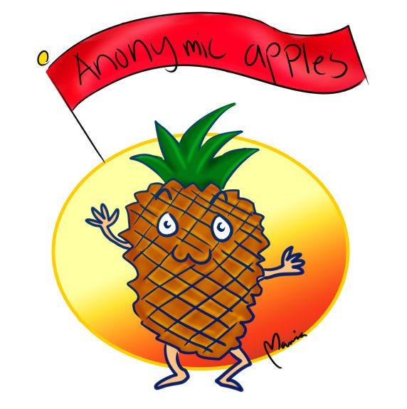 Anonymic apples #mariadrawsdaily #pineapple #drawing #art