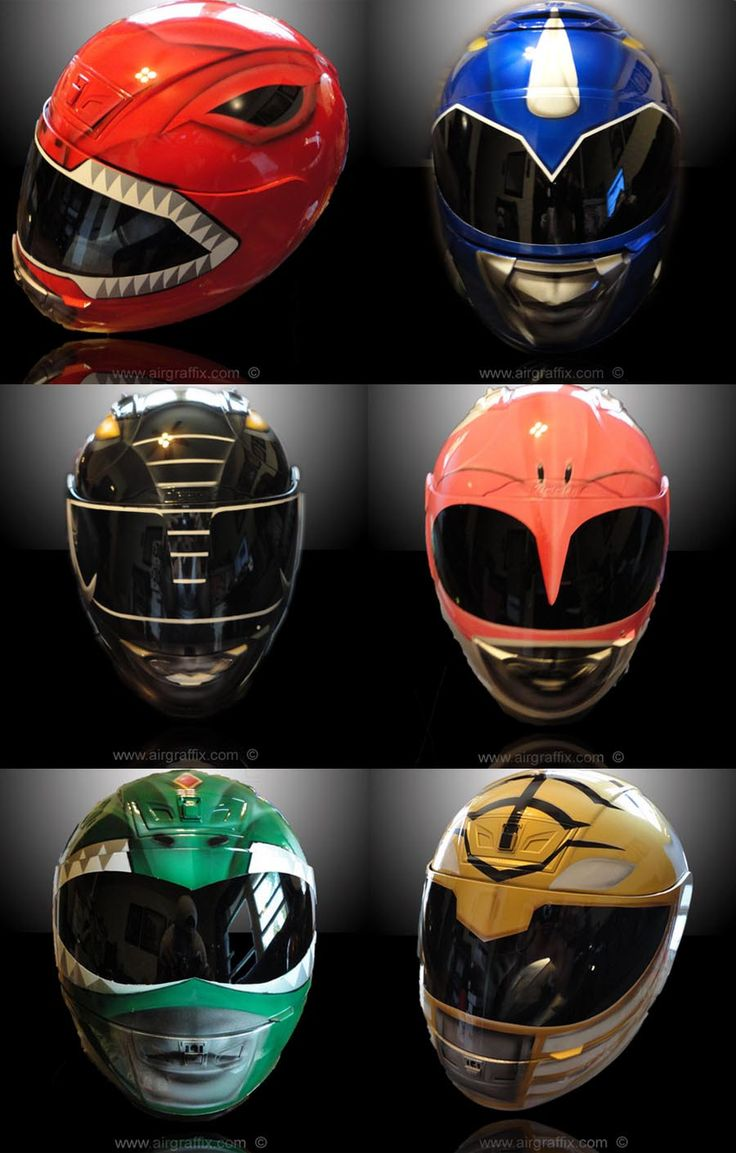 custom-motorcycle-helmets-power-rangers-background.....