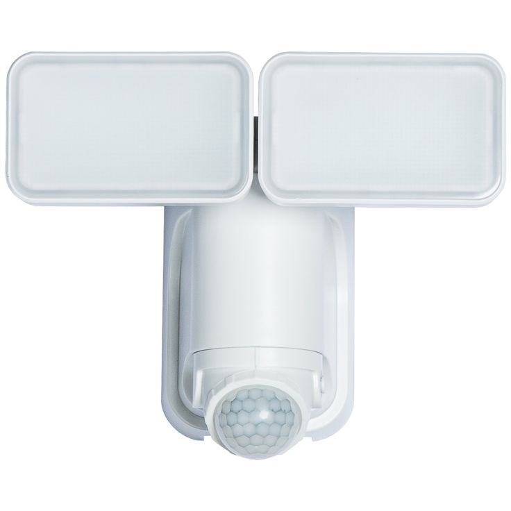 White 1000 Lumen Motion-Activated Solar LED Security Light - Style # 14H14