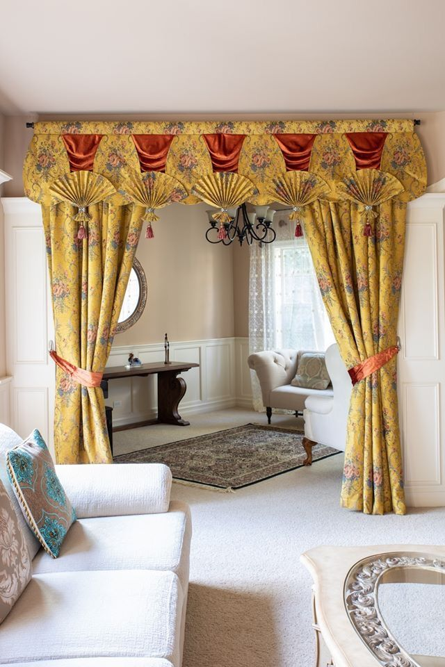 Sale Swag Curtains And Valances Window Treatments In 2020 Yellow Curtains Living Room Unique Curtains Curtains