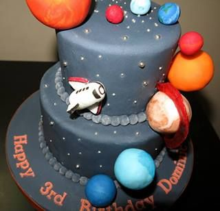 41 best images about cakes galactic outer space on pinterest for Outer space cake design