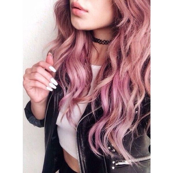 PINK HAIR (50 BEST HAIRSTYLES) ❤ liked on Polyvore featuring beauty products, haircare and hair styling tools