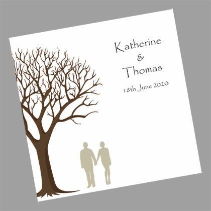 Couple Under Tree Folding Wedding Invitation -www.kardella.com