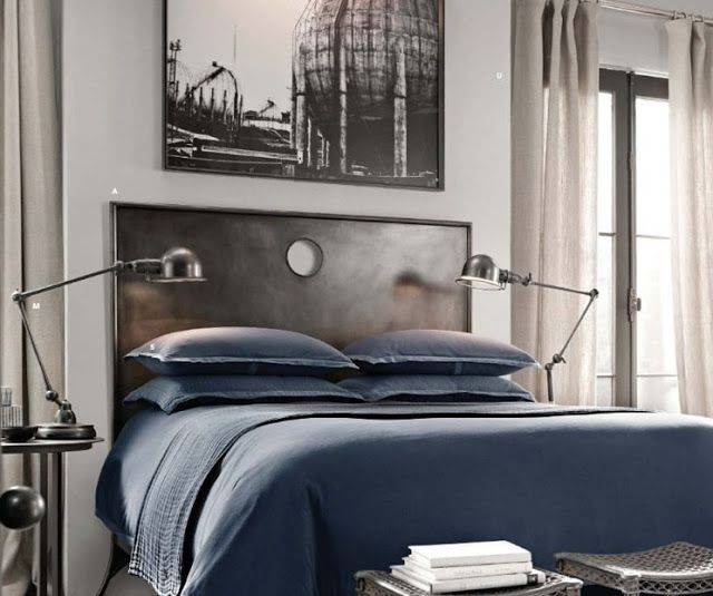 Metallic Masculine Bedroom