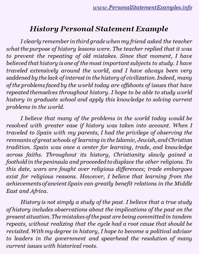 best history personal statement examples httpwww