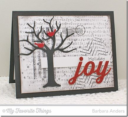 Joy-filled Christmas card by Barbara