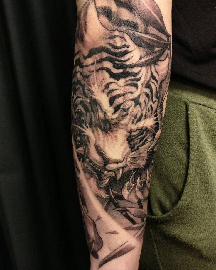 "4,481 Likes, 49 Comments - David Hoang (@davidhoangtattoo) on Instagram: ""Tiger sleeve in progress #chronicink #tiger #irezumicollective #irezumi #asiantattoo #asianink…"""