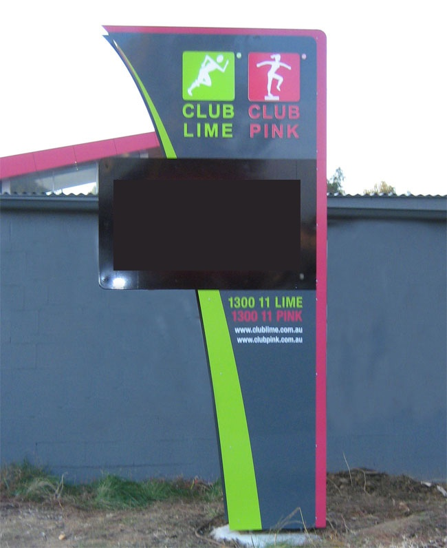 Club Lime & Club Pink - Tuggeranong Outdoor Signage design & development