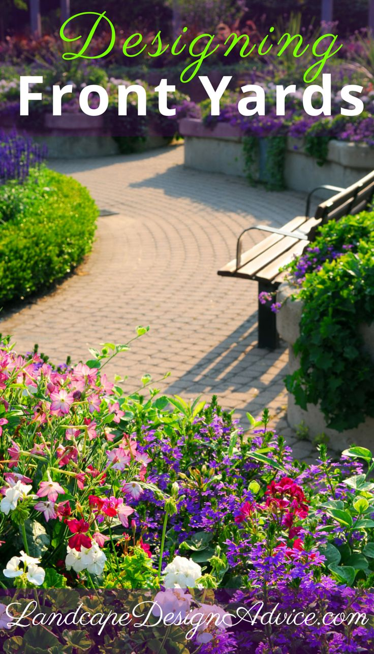 Photos of outstanding front yards along with tips for your garden design.