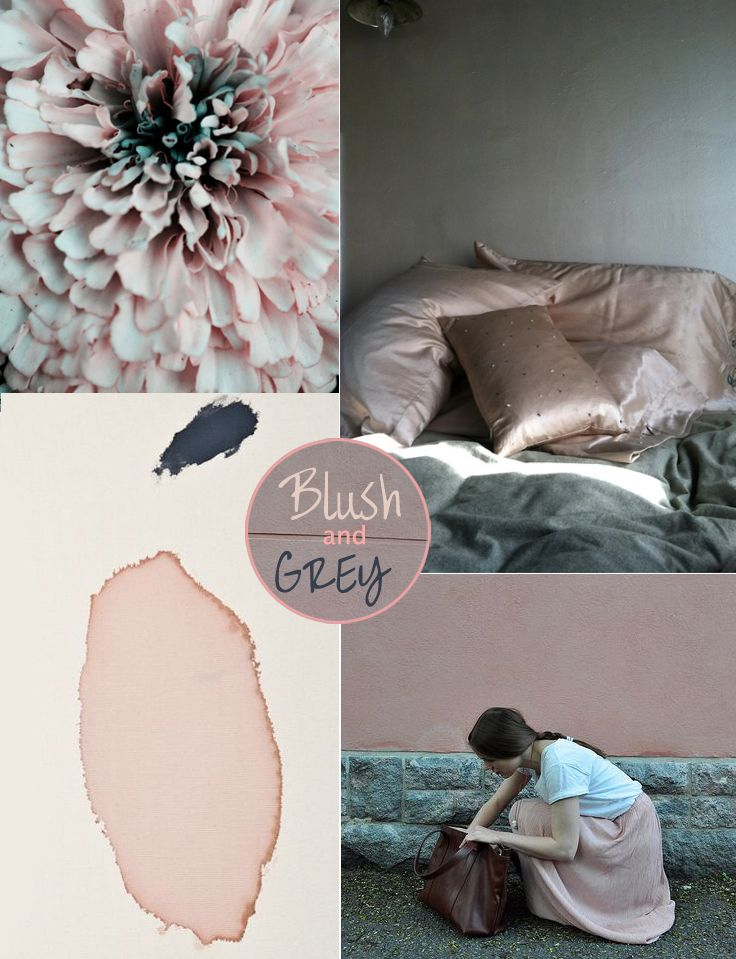 Blush & Grey, See more inspirations at http://www.brabbu.com/en/inspiration-and-ideas/ #MoodBoardIdeas #MoodBoardDesign #MoodBoardFashion