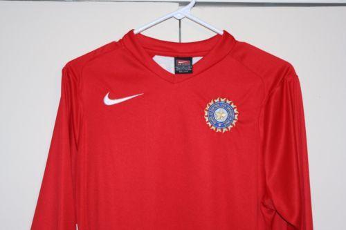 Nike Dri-Fit Cricket Board India Long Shirt Multi Adult Medium Tendulkar Dhoni
