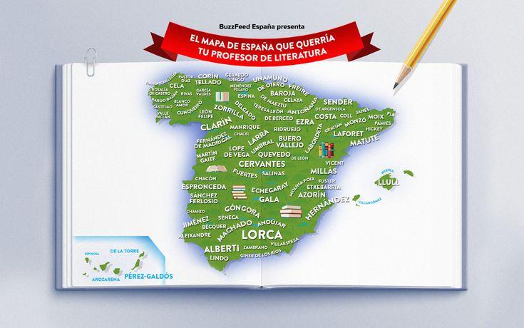 El mapa de España que colgaría en su salón tu profe de literatura