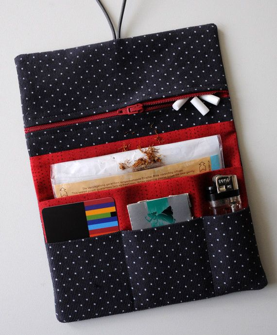 Tobacco pouch tobacco pouch CORDUROY cotton points by Fadenart