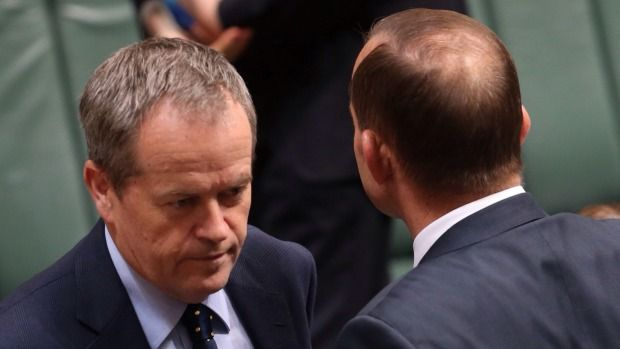 Politics is about persuasion but both parties neglect the public's views Opposition Leader Bill Shorten  and Prime Minister Tony Abbott in Parliament.
