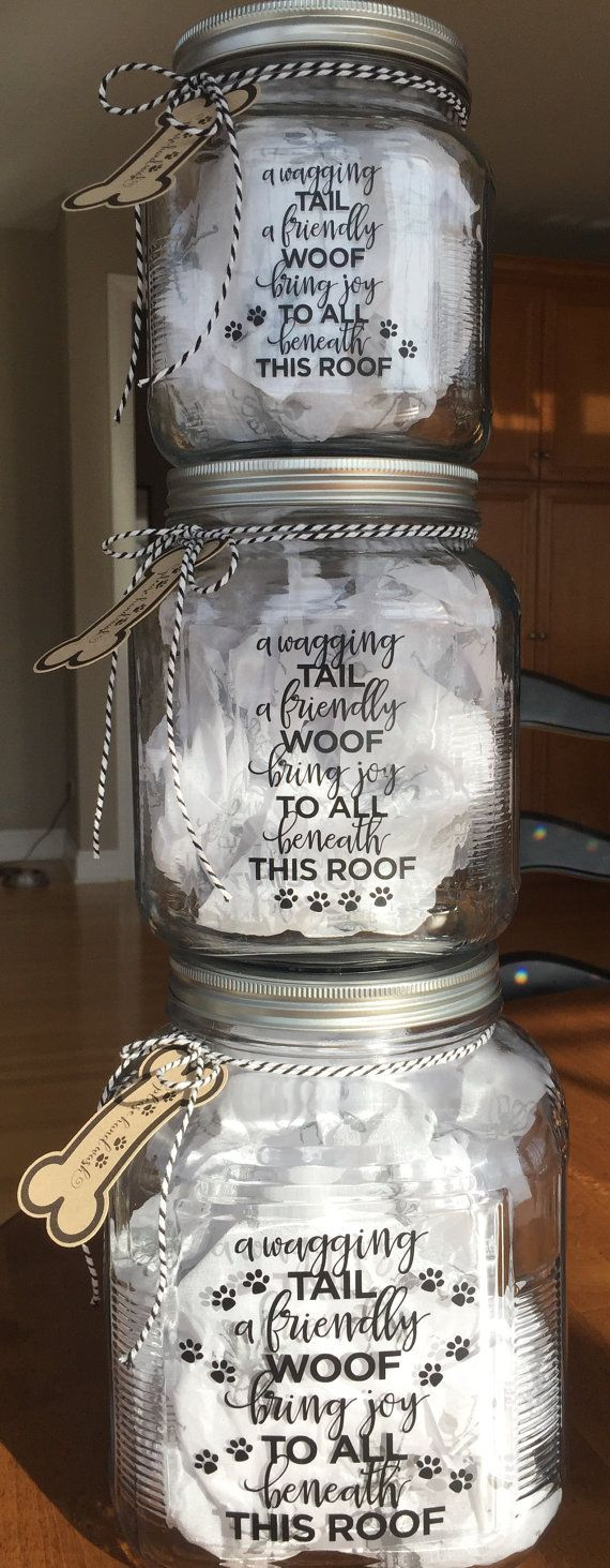Dog Treat Jar Personalized Home and Living by AFoundDimePaperie
