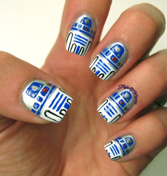 Star Wars inspired nail art created by amazing artists! You'll find Yoda,  Chewbacca, Darth Vader and more in this round-up. - Best 25+ Star Wars Nails Ideas Only On Pinterest Nail Art Diy