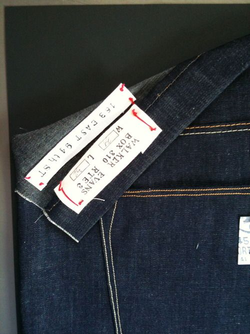 Label created by hand