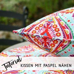 Näh dir ein Kissen mit selbstgemachter Paspel - crearesa.de