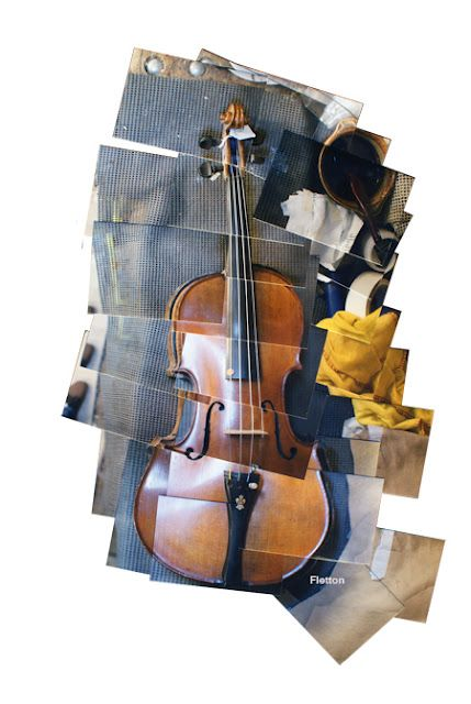 Violin  #cubism #photography #collage  #Hockney Chester Fletton