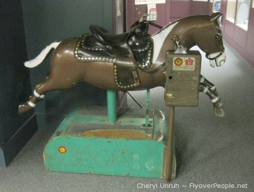 Behaving At The Grocery-Store Meant A Penny For A Ride On An Automated Horse!