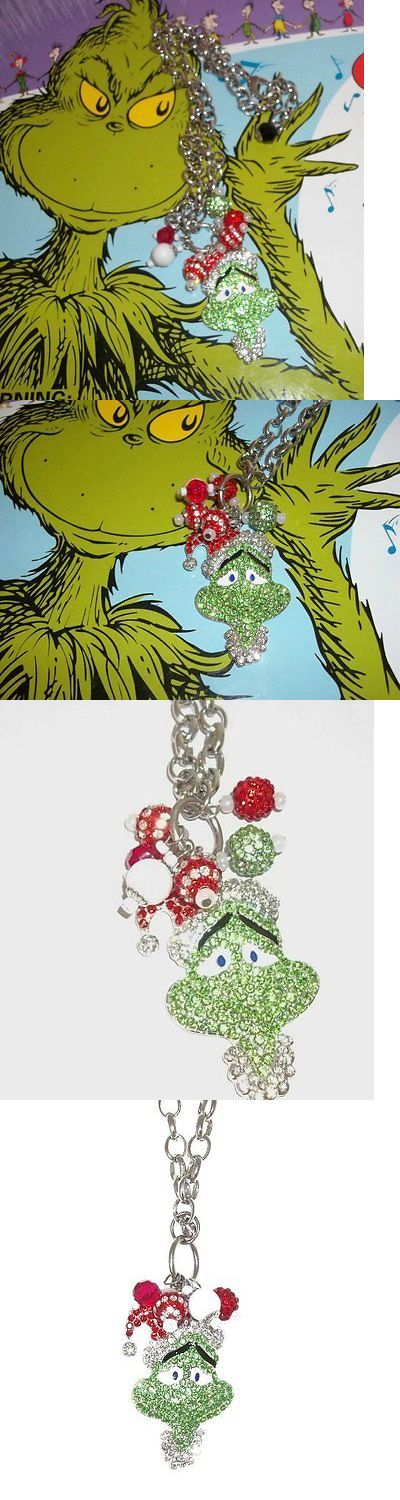 Christmas Gift Ideas: New Mr. Grinch Kawaii Rhinestone Pendant Beaded Necklace Fun Christmas Gift -> BUY IT NOW ONLY: $16.99 on eBay!