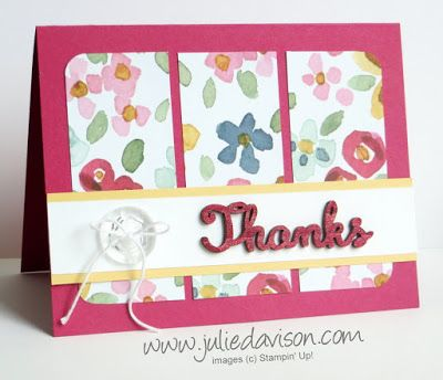 Stampin' Up! Around the World Last Chance Blog Hop with English Garden Expressions Natural Elements Cards #stampinup www.juliedavison.com