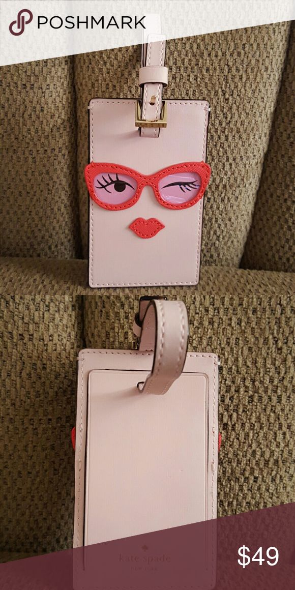 KATE SPADE  LUGGAGE TAG💋💋💋 New with tags   GLASSES luggage tag kate spade Accessories