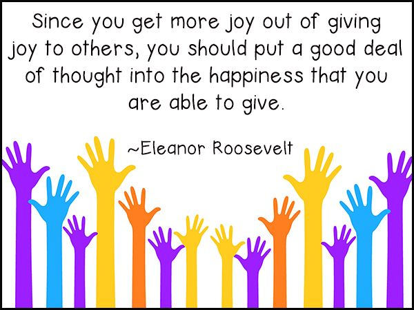 Eleanor Roosevelt quote about joy