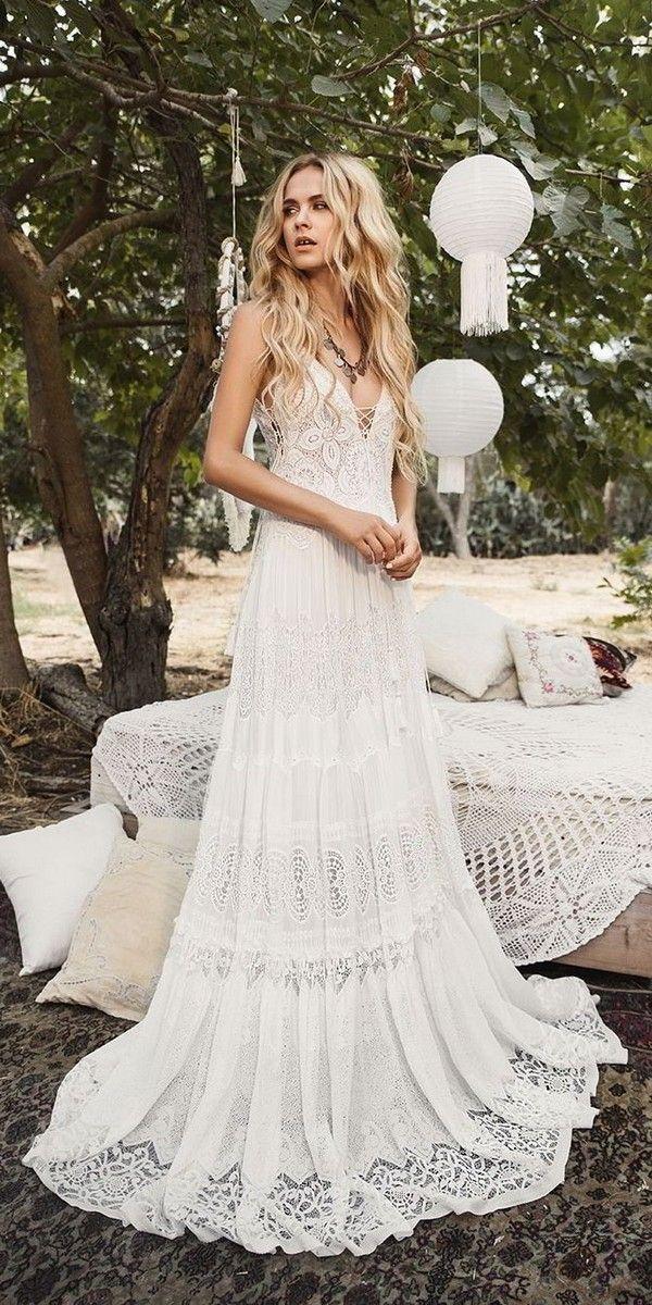 Inbal Raviv Lace Boho Wedding Dress