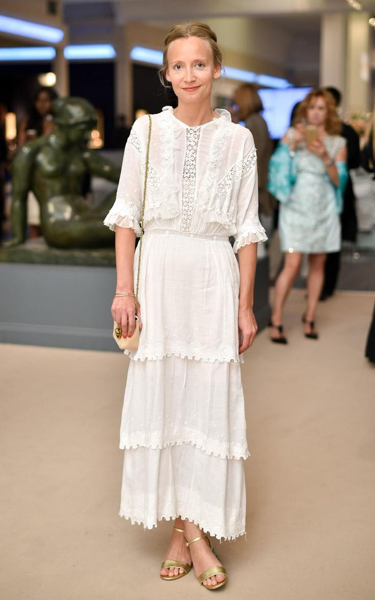 A ruffle too many? Not for Martha Ward who took on summer's Broderie Anglaise look with the gusto of a true embroidery fan. The more the merrier we say…