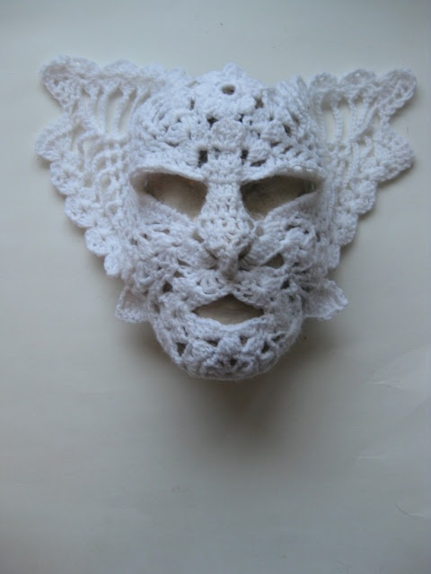 Free Crochet Halloween Mask Patterns : VMSom? KOPPA - unexpected crochet - demon mask Crochet ...