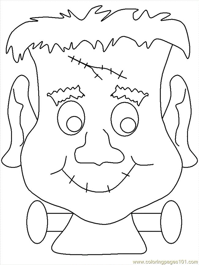 printable scary halloween coloring pages - photo#38