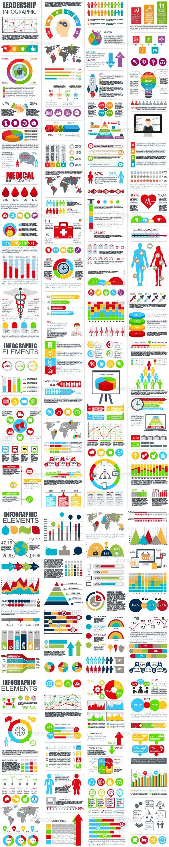 Bundle Infographic Element Templates Vector EPS, AI Illustrator