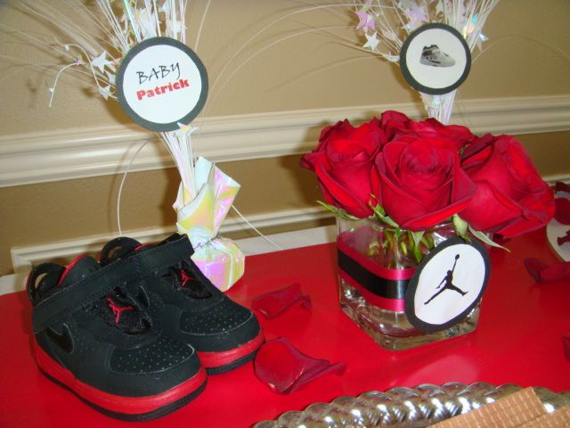 jordan themed baby shower on pinterest baby jordans basketball baby