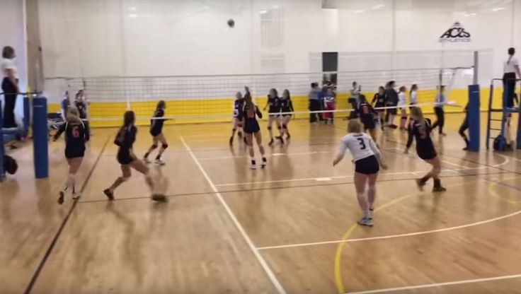 Volleyball player scores point off her face in a delightful, real-life video
