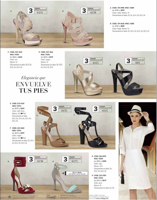 Ofertas Andrea Outlet, zapatillas de fiesta o antro. Moda 2016