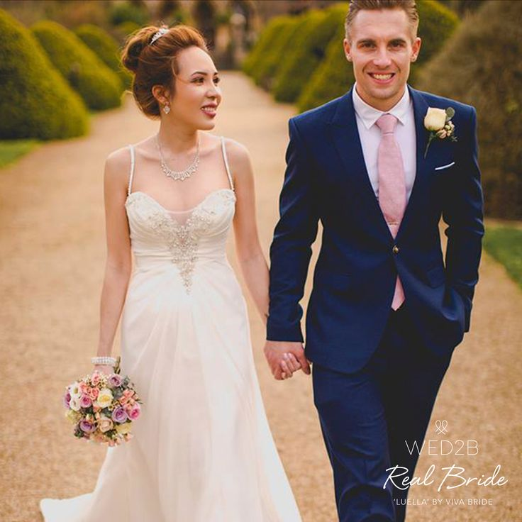 We love this wonderful photo of real bride Lihn in 'Luella' by Viva Bride<3Please share your photos with us by emailing info@wed2b.co.uk<3 www.wed2b.co.uk/wedding-dresses/viva_bride