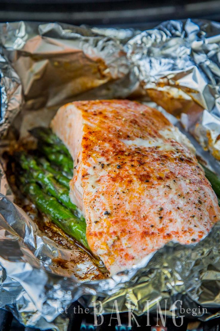 Salmon Asparagus Foil Packets