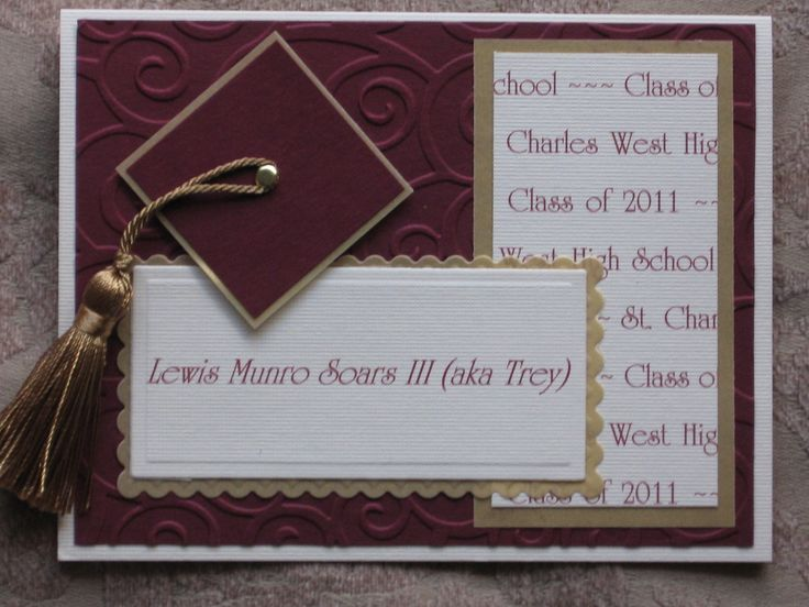 graduation announcements | made 40 of these graduation announcements for our nephew who will be ...