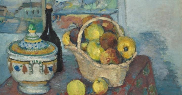 Natureza morta na soupeira, de Cézanne: Paul Cézanne, Artists, Paul Cezanne, Still Life, Doces Paul, Apples Bottle, Art Paul, Cezanne Painting, Soup Tureen
