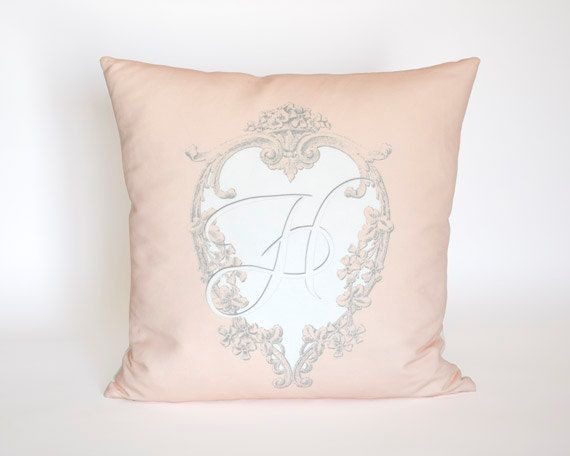 Heart Frame Custom Monogrammed Pillow  10x10 18x18 by artanlei, $20.00