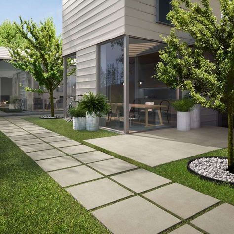 Vialetto giardino fai da te - Vialetto moderno