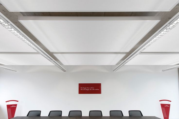 Ceiling: Techstyle Islands. Acoustical Solution.