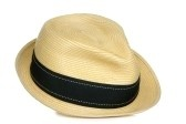 Tan Fadora w/ black band .. Perfect for summer trips to the beach . ( own it! )