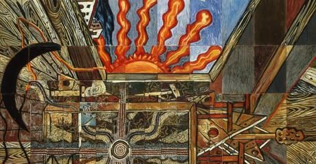 'Dreamings: Australian Aboriginal Art meets De Chirico' exhibition at Museo Carlo Bilotti (Rome, 04/07 - 02/11/2014).