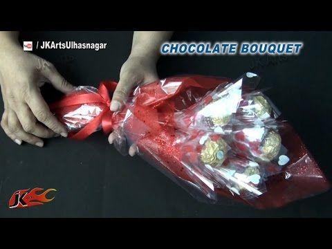 DIY Valentine's Gift Idea | Ferrero Rocher Chocolate Bouquet | How to make | JK Arts 837 - YouTube