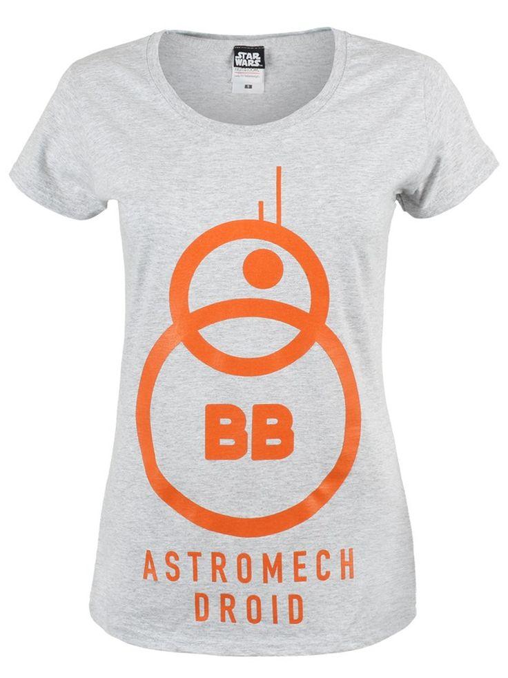 Star Wars The Force Awakens BB-8 Womens T-Shirt Ladies T-shirt | UK Store | Oneposter.com