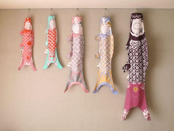リビングに飾る、色とりどりの『こいのぼり』 - usagi works