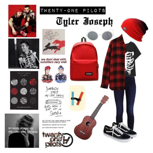 """Twenty-one Pilots Tyler Joseph"" by djpanda411 on Polyvore featuring Yves Saint Laurent, J.Crew, Eastpak and Hot Topic"