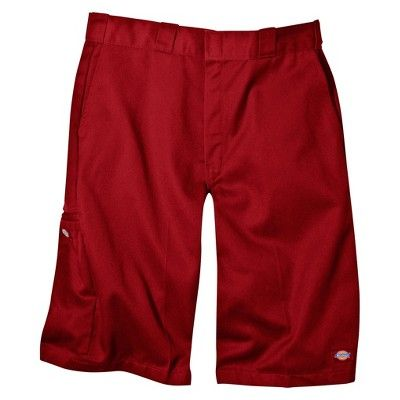 Dickies Men's Big & Tall Loose Fit Twill 13 Multi-Pocket Work Shorts- English Red 56